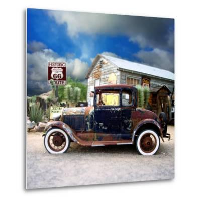 Old Rusty Car in America-Salvatore Elia-Metal Print