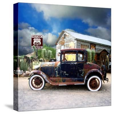 Old Rusty Car in America-Salvatore Elia-Stretched Canvas Print