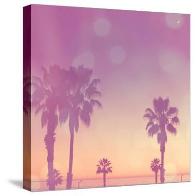 Palm Trees in California-Myan Soffia-Stretched Canvas Print