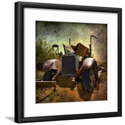Rusty Old Truck in America-Salvatore Elia-Framed Photographic Print