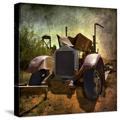Rusty Old Truck in America-Salvatore Elia-Stretched Canvas Print