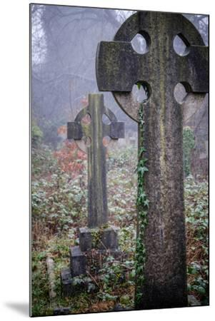 Graveyard in England in Winter-David Baker-Mounted Photographic Print