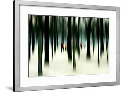 Silhouettes of People Between Trees-Bastian Kienitz-Framed Photographic Print
