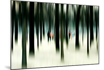 Silhouettes of People Between Trees-Bastian Kienitz-Mounted Photographic Print