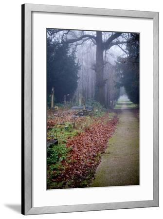 Graveyard in England in Winter-David Baker-Framed Photographic Print