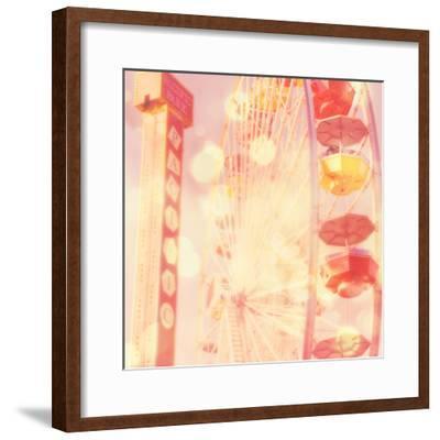 Carnival Lights on a Big Wheel-Myan Soffia-Framed Photographic Print