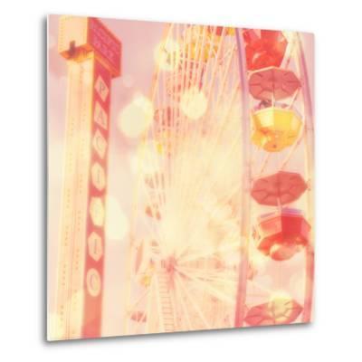 Carnival Lights on a Big Wheel-Myan Soffia-Metal Print