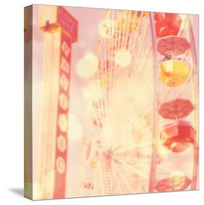 Carnival Lights on a Big Wheel-Myan Soffia-Stretched Canvas Print