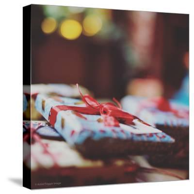 Wrapped Xmas Presents-Tim Kahane-Stretched Canvas Print