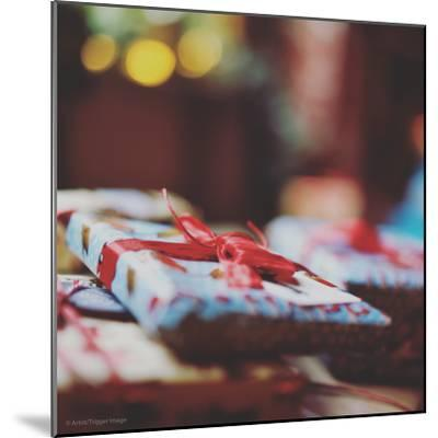 Wrapped Xmas Presents-Tim Kahane-Mounted Photographic Print