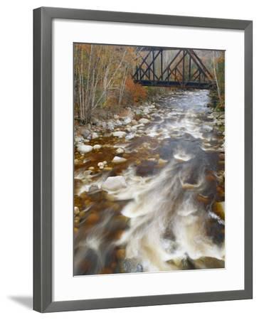 Trestle over the Saco River. White Mountains, New Hampshire-Gustav W. Verderber-Framed Photographic Print