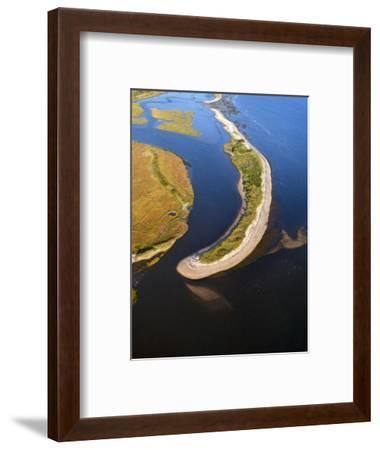 Sand Spit, Connecticut River Estuary at Griswold Point-Robert Perron-Framed Photographic Print