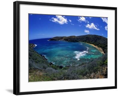 Hanauma Bay Is One of Oahu's Most Popular Snorkeling Sites, Hawaii, USA-David Fleetham-Framed Photographic Print
