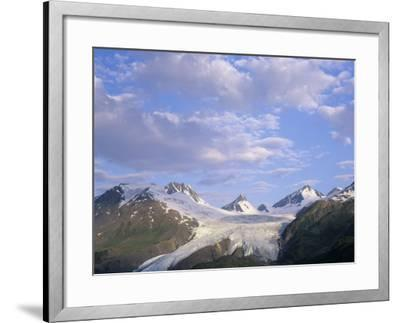 Worthington Glacier and Chugach Mountains, Thompson Pass Near Valdez, Alaska, USA-Adam Jones-Framed Photographic Print