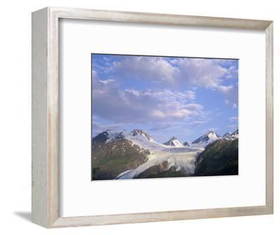Worthington Glacier and Chugach Mountains, Thompson Pass Near Valdez, Alaska, USA-Adam Jones-Framed Photographic Print