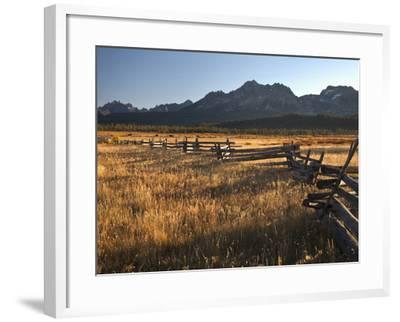 Stanley, Idaho Is the Gateway to the Sawtooth Mountains, Frank Church Wilderness-Sean Bagshaw-Framed Photographic Print