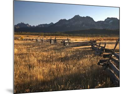 Stanley, Idaho Is the Gateway to the Sawtooth Mountains, Frank Church Wilderness-Sean Bagshaw-Mounted Photographic Print