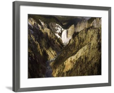 Lower Yellowstone Falls, Grand Canyon of the Yellowstone River, Yellowstone National Park, Wyoming-David Cobb-Framed Photographic Print