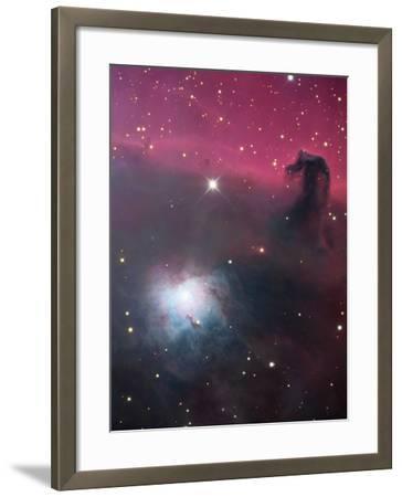 The Horsehead Nebula (Barnard33), The Bright Blue Nebula To The Lower Left is Ngc2023-Robert Gendler-Framed Photographic Print