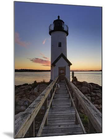 Annisquam Lighthouse at Sunset, Wigwam Point, Ipswitch Bay, Near Gloucester, Massachusetts-Adam Jones-Mounted Photographic Print