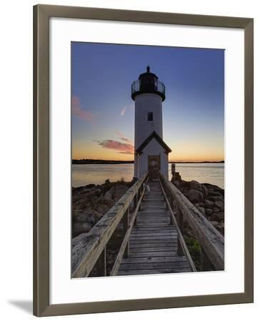 Annisquam Lighthouse at Sunset, Wigwam Point, Ipswitch Bay, Near Gloucester, Massachusetts-Adam Jones-Framed Photographic Print