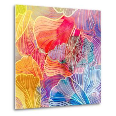 Graphic Abstract Background-tanor27-Metal Print