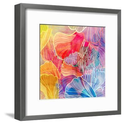 Graphic Abstract Background-tanor27-Framed Art Print