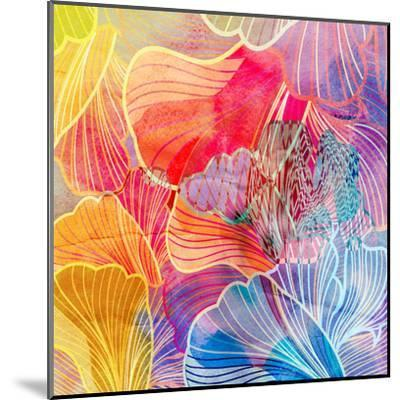 Graphic Abstract Background-tanor27-Mounted Art Print