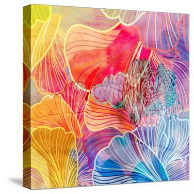 Graphic Abstract Background-tanor27-Stretched Canvas Print