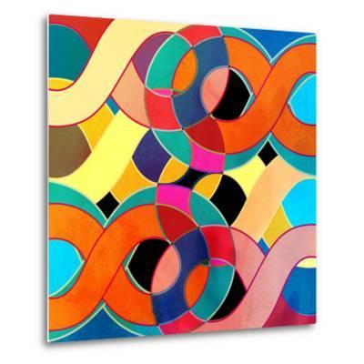 Abstract Watercolor Retro Background-tanor27-Metal Print