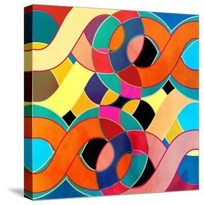 Abstract Watercolor Retro Background-tanor27-Stretched Canvas Print