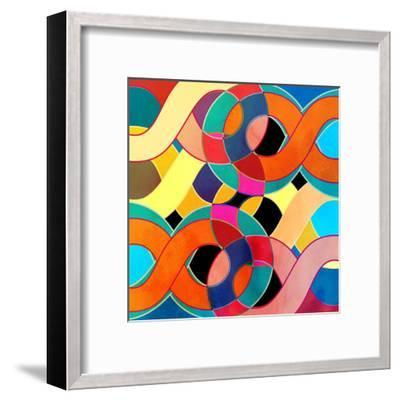 Abstract Watercolor Retro Background-tanor27-Framed Art Print