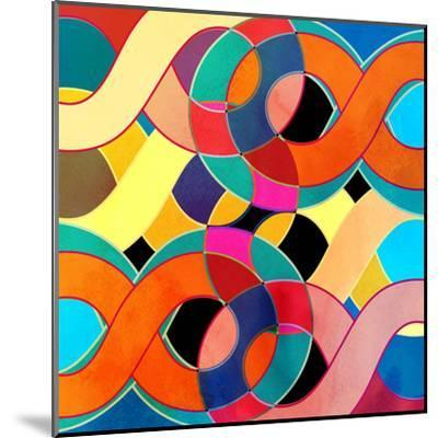 Abstract Watercolor Retro Background-tanor27-Mounted Art Print