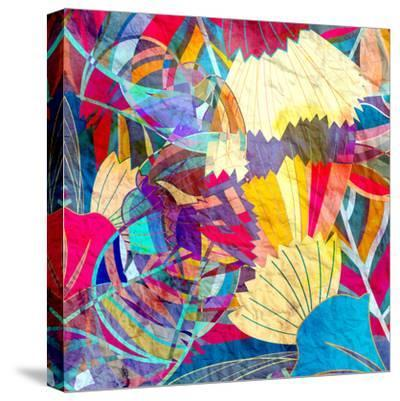 Abstract Colorful Watercolor-tanor27-Stretched Canvas Print