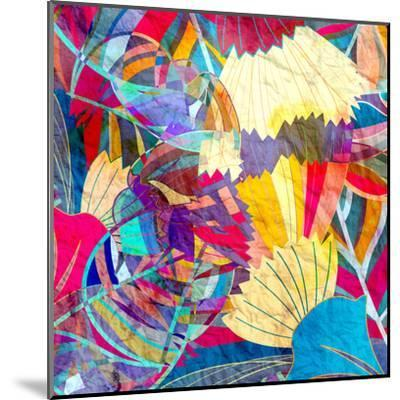 Abstract Colorful Watercolor-tanor27-Mounted Art Print