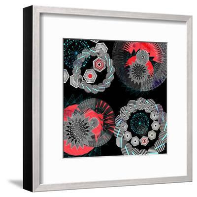 Abstract Graphic  Elements-tanor27-Framed Art Print