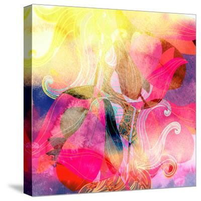 Abstract Watercolor Background-tanor27-Stretched Canvas Print