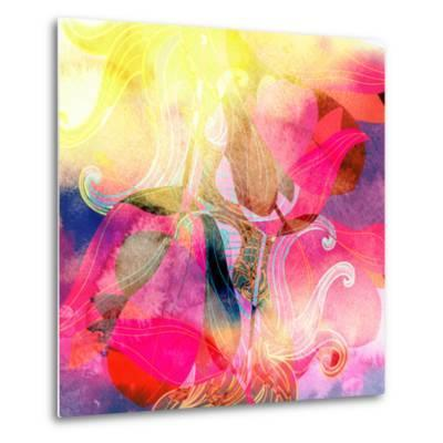 Abstract Watercolor Background-tanor27-Metal Print