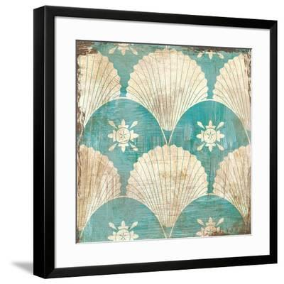 Bohemian Sea Tiles I-Cleonique Hilsaca-Framed Art Print