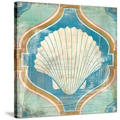 Bohemian Sea Tiles II-Cleonique Hilsaca-Stretched Canvas Print