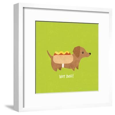 Good Dogs Dachshund Bright-Moira Hershey-Framed Art Print