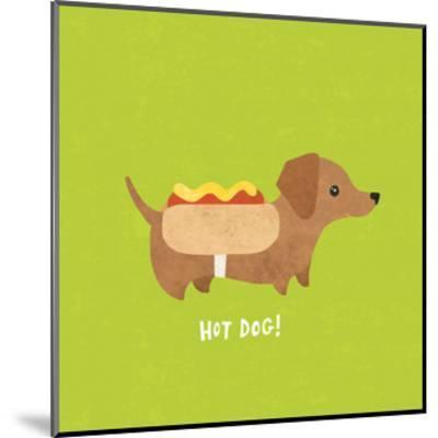 Good Dogs Dachshund Bright-Moira Hershey-Mounted Art Print