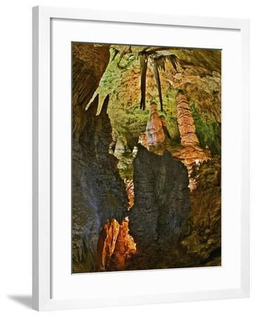 Stalactites and Stalagmites in the Hall of Giants, Big Room, Carlsbad Caverns Np-Adam Jones-Framed Photographic Print