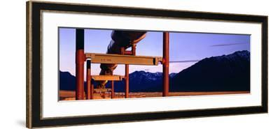 The Trans Alaska Pipeline Just North of the Brooks Range Looking South-Paul Andrew Lawrence-Framed Photographic Print