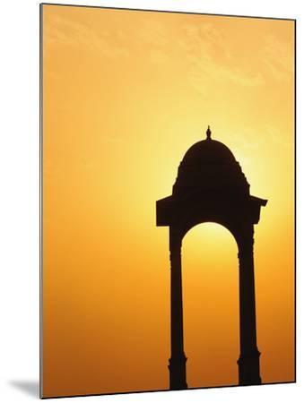 Tower Near the India Gate Silhouetted at Sunset, New Delhi, India-Adam Jones-Mounted Photographic Print