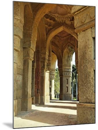 Columns on Tomb of Mohammed Shah, Lodhi Gardens, New Delhi, India-Adam Jones-Mounted Photographic Print