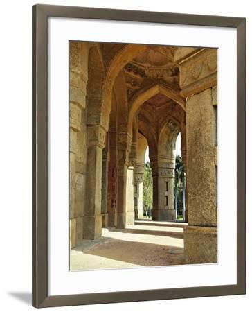 Columns on Tomb of Mohammed Shah, Lodhi Gardens, New Delhi, India-Adam Jones-Framed Photographic Print