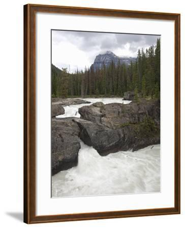 The Kicking Horse River Erodes a Natural Bridge in Limestone, Yoho National Park, Canada-Marli Miller-Framed Photographic Print