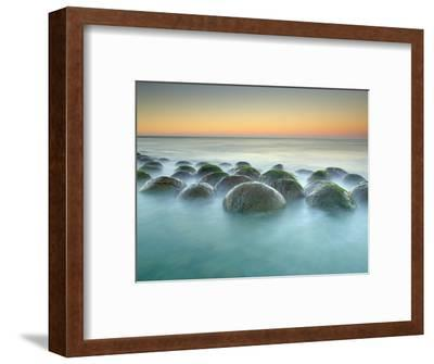 These Sandstone Concretions at Bowling Ball Beach Near Point Arena-Patrick Smith-Framed Photographic Print