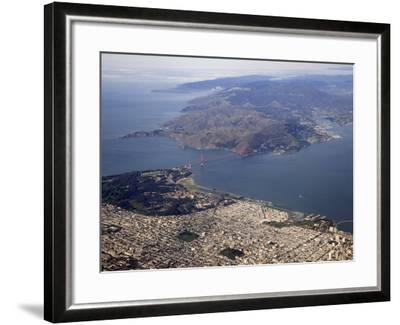 Golden Gate Bridge, San Francisco North to Marin Headlands, California, USA-Marli Miller-Framed Photographic Print